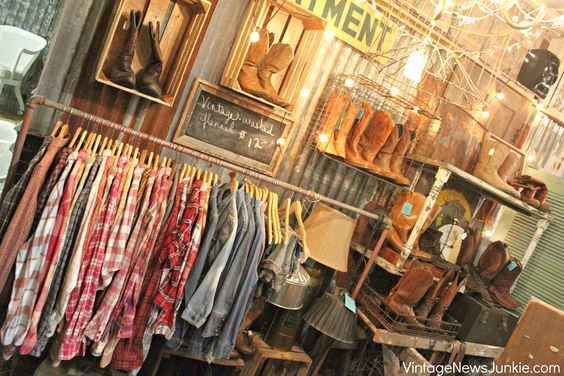 Country Vintage Cowboy Boots add purses/hats etc to boutique display