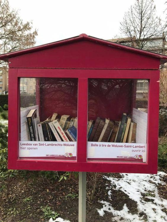 Boîte à livres Woluwe Saint Lambert 1