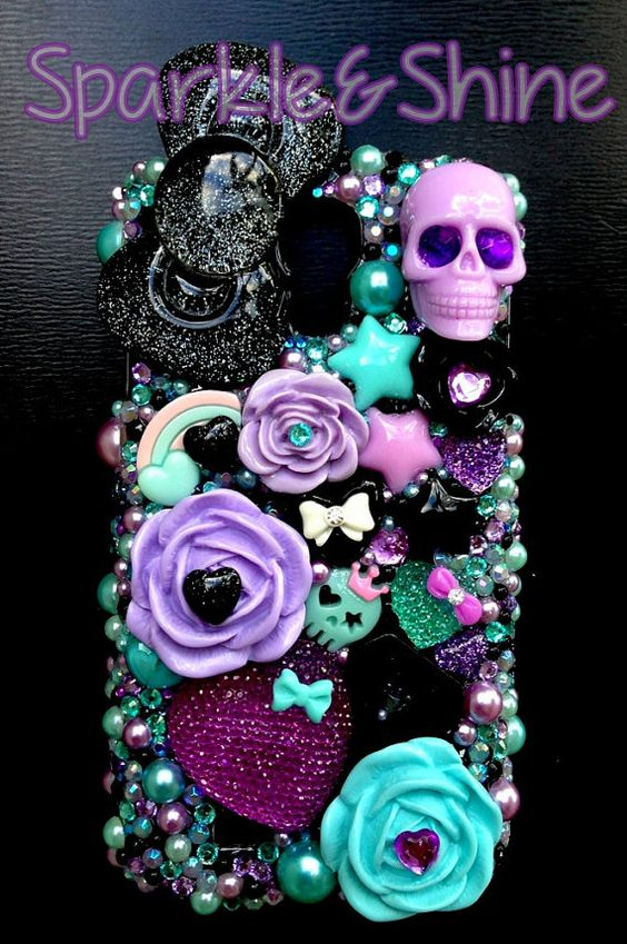 Scary Chic Decoden Kawaii Phone Case for by SparkleAndShineByLW, $45.00