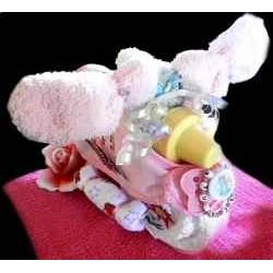 How To Make A Baby Shower Diaper Scooter. Step by step photo instructions.