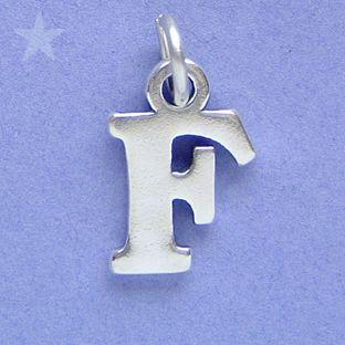 Alphabet Letter F Charm