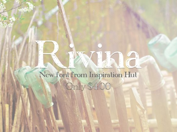 New Creative and Hand Drawn Font - Rivina