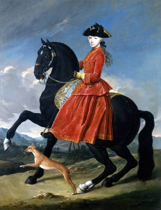 "Madame de Pompadour (""Portrait of a young Amazon"" by Giacomo Ceruti,...):"