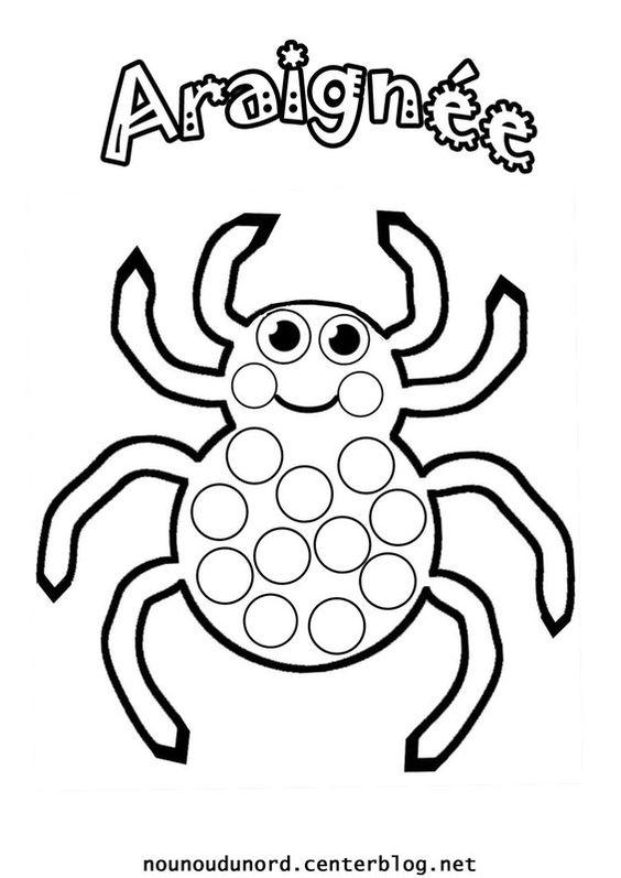 araignée à gommettes