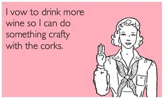 I vow to drink more wine so I can do something crafty with the corks