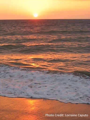 Sunset over Zorritos