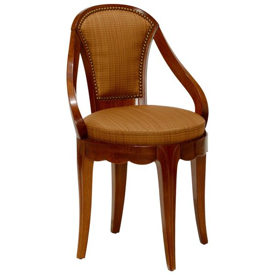 Chair in Mahogany Attributed to Süe & Mare | From a unique collection of antique and modern side chairs at https://www.1stdibs.com/furniture/seating/side-chairs/