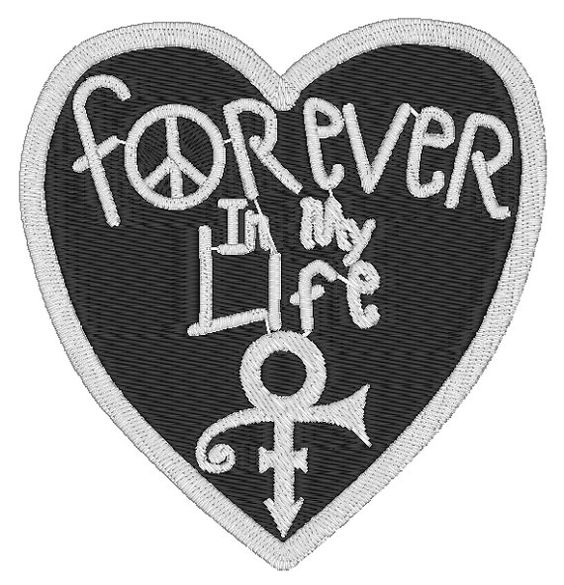 Custom Prince Forever In My Life Heart Embroidered by MelarkyStore