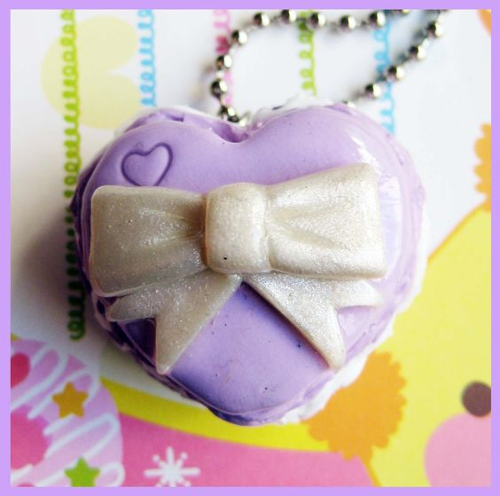 Heart Macaron Necklace | Lolita, kawaii & quirky things | Pinterest ...