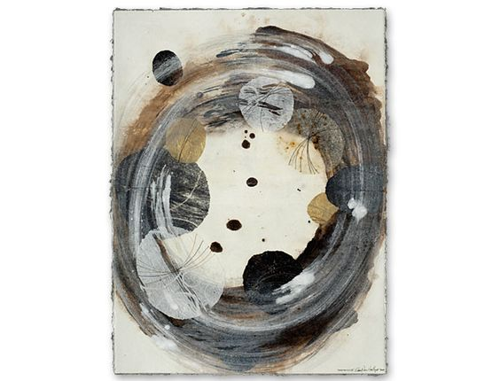 David Owen Hastings  Meditation Ⅲ  2007  monotype, collage, stitching on paper  Thanks to neutralnotes