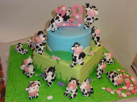 Art By Cow Cake : Cute cow cake Cake Art Pinterest 21st birthday ...