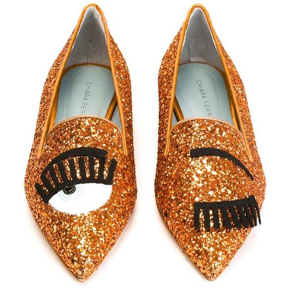 Chiara Ferragni Flirting Slippers (€220) ❤ liked on Polyvore featuring shoes and slippers