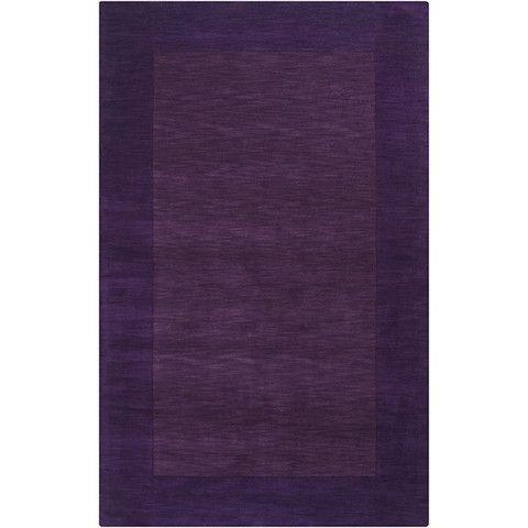 Mystique Collection Wool Area Rug in Aubergine and Dark Plum design by Surya