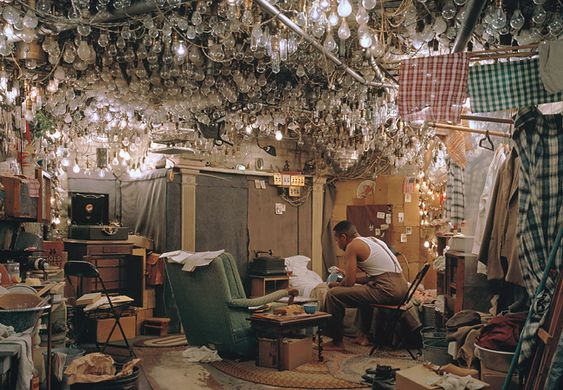 After 'Invisible Man' by Ralph Ellison, the Prologue- Jeff Wall