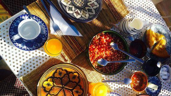 Marokkanisches Frühstück im Riad Yamina
