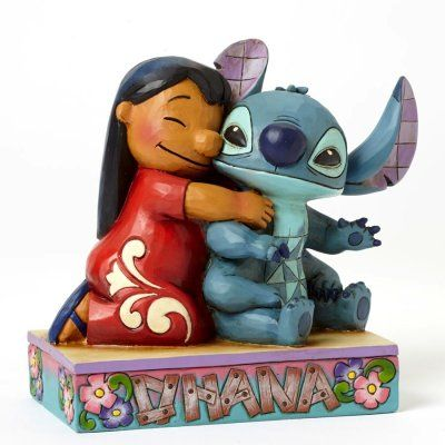PRE-ORDER: 'Ohana Means Family - Lilo hugging Stitch figurine from Fantasies Come True