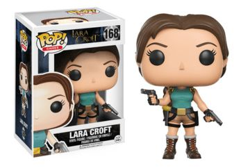 Tomb Raider Lara Croft Pop! Vinly: Lara Croft is given a fascinating stylized Pop! vinyl look! - Stands 3.75 inches tall - Packed in window display box - Pop! Games #163 Release: 02/17