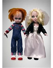 Living Dead Chucky and Tiffany Dolls Set 2 Pk