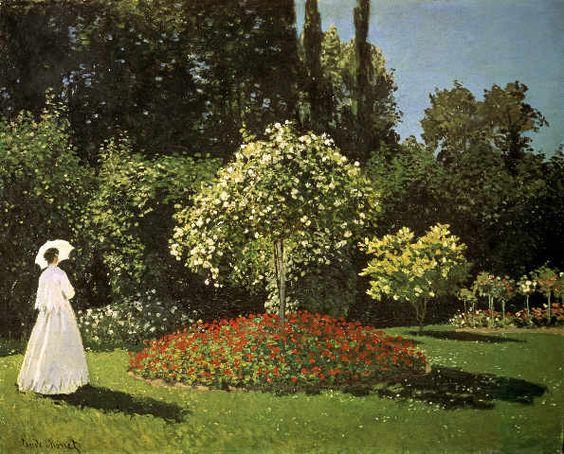 Claude Monet - C.Monet, Dame im Garten/ 1867 - jetzt bestellen auf kunst-fuer-alle.de