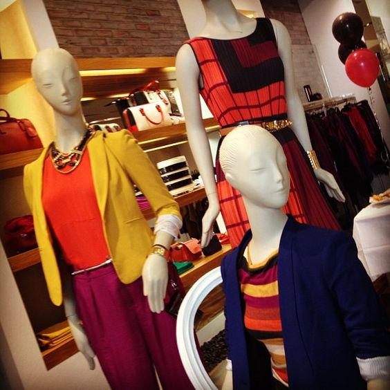 Fantastic color blocking outfits from BCBG! (Aug. 3, 2012)