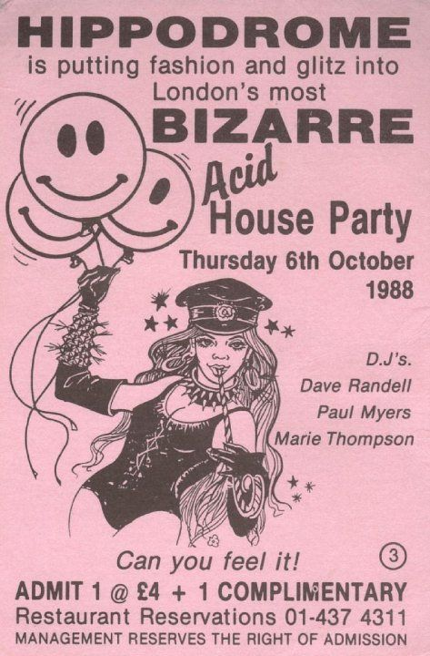 Hippodrome acid house classic club flyer i loved this for Acid house classics