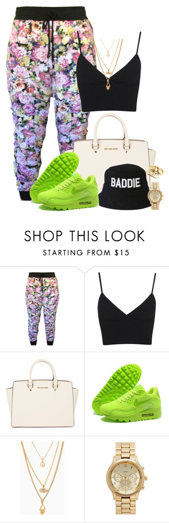 """""""Joggers for Sell (Link in description)"""" by annellie ❤ liked on Polyvore featuring Miss Selfridge, MICHAEL Michael Kors, HLZBLZ, NIKE and Forever New"""