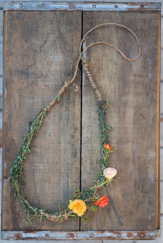 DIY for floral thyme necklace