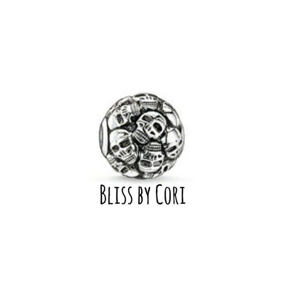 Skull Cluster Bead  Thomas Sabo Inspired  925 by BlissbyCori