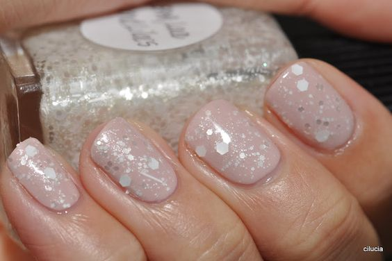 Love Lace & Lilacs (Lynnderella) over Let Them Eat Rice Cake (OPI)