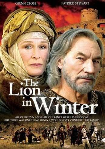 A great movie about King Henry II and Queen Eleanor...Glenn Close in the Lion in Winter with Patrick Stewart.The Lion in Winter is set during Christmas 1183, at King Henry II's château and primary residence in Chinon, Anjou, within the Angevin Empire of medieval France....