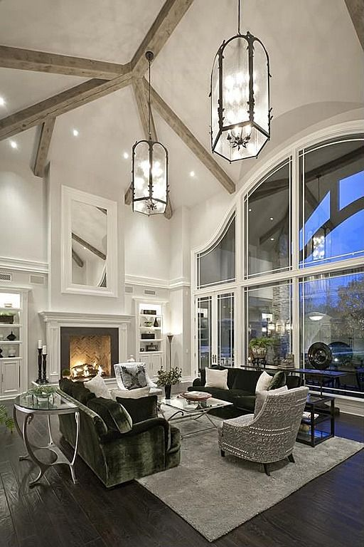 Luxury living room with gorgeous custom windows it makes the whole room: