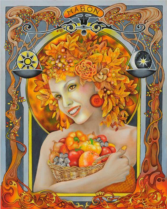 Goddess Mabon Autumn equinox pagan sabbat visionary altar art. | Etsy