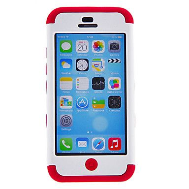 Defender Series Hybrid Rugged Silicone and PC Hard Case for iPhone 5C (Assorted Colors) – USD $ 9.99