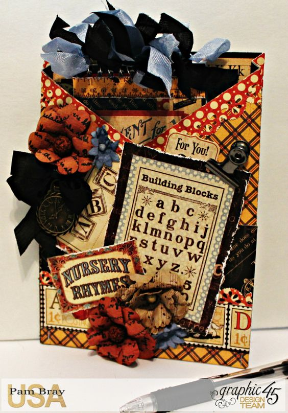Graphic 45 - ABC Primmer Notebook Holder - Pam Bray 4_0871