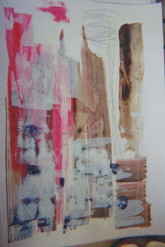 Acrilica c/colagem de aquarela e lapis grafiti