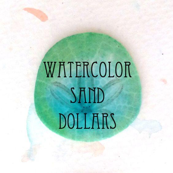 DIY watercolor sand dollars