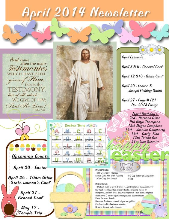 free april newsletter template - april relief society newsletter my creations pinterest
