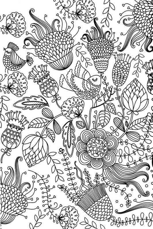 Abstract Bird Coloring Pages : Coloring flower and pictures on pinterest