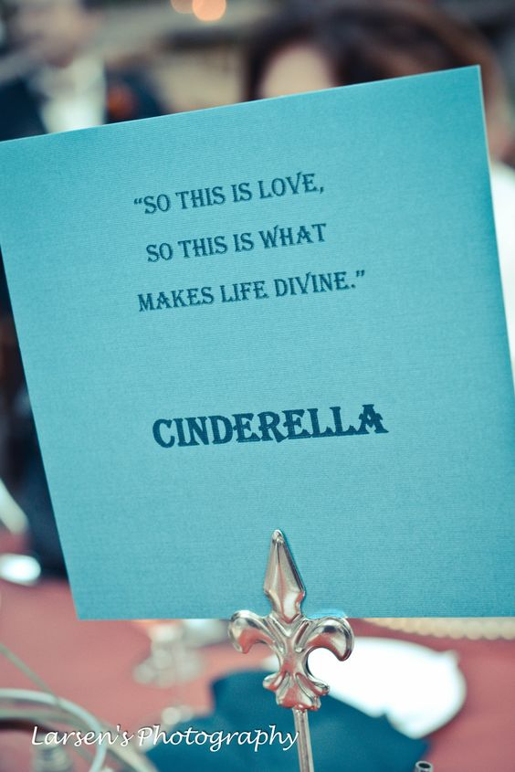 Cute idea for engagement party - use quotes from love movies or disney movies