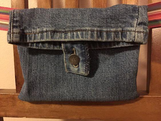 Upcycled denim belt pouch sporran от ExtraPocket на Etsy