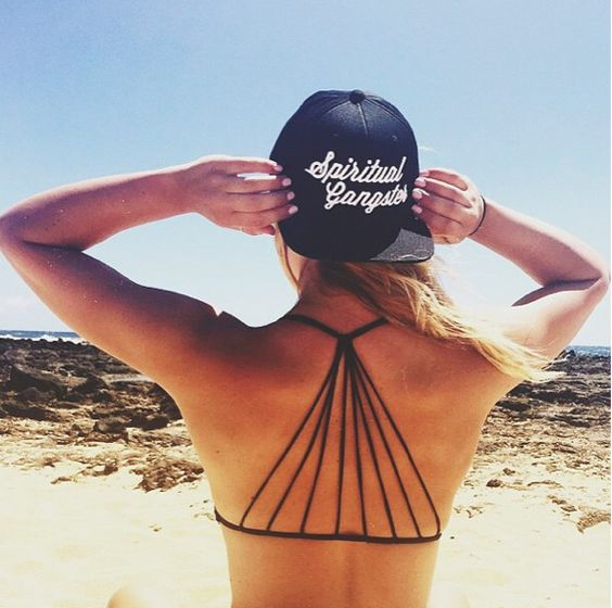 Beach days in our Spiritual Gangster snapback