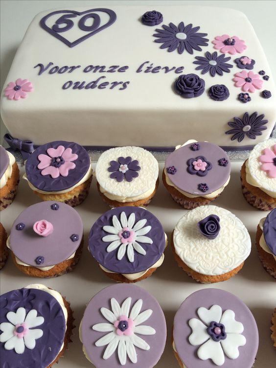 50 jarige bruiloft taart