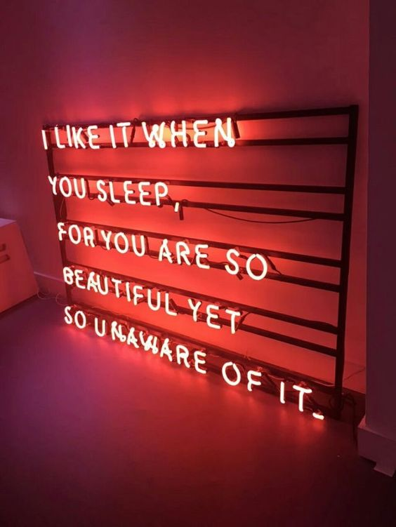 I like it when you sleep, for you are so beautiful yet so unaware of it // The 1975