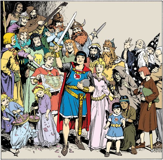 Prince Valiant - Hal Foster originated this long running comic strip.