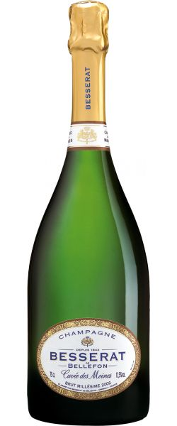 Besserat de Bellefon 2002 Cuvée des Moines Brut Millésimé - 13/20 : Un 2002 d'honnête facture, souple, dosé et court.  En savoir plus : http://avis-vin.lefigaro.fr/vins-champagne/champagne/champagne/d19824-besserat-de-bellefon/v30018-besserat-de-bellefon-cuvee-des-moines-brut-millesime/vin-blanc/2002#ixzz3Nwn4d9t3