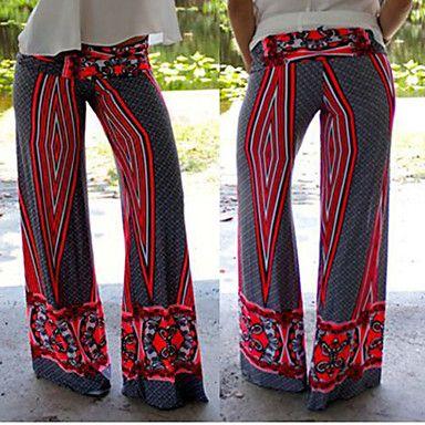 Pantalon ( Polyester ) Sexy/Plage/Informel/Imprimé Femme – EUR € 11.99