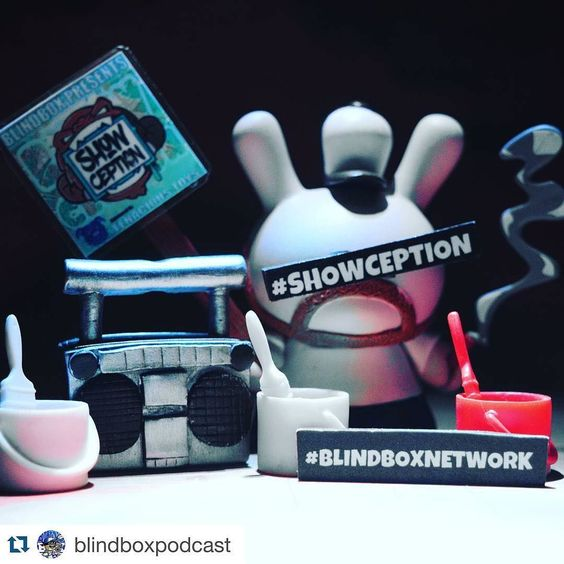 You gotta check out the Blind Box Podcast @blindboxpodcast - they bring in all kinds of awesome guests and guest hosts so you never know what you're going to hear. Super fun format feels like chopping it up with your friends! I'm such a fan that @tenacioustoys is sponsoring. Also check out #Showception which is a show within a show recorded every Sunday night from the @playfulgorilla Twitch feed.... It's complete madness. Really fun!