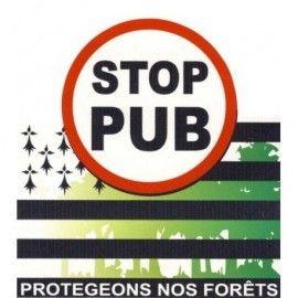 AUTOCOLLANT STOP PUB PROTÉGEONS NOS FORÊTS (6020070)