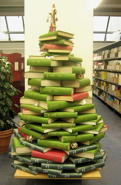 Library geek Christmas tree stack | honeythorpe | flickr
