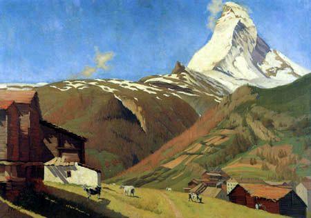 Félix Edouard Vallotton - Vue de Zermatt: